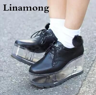 Spring new arrival personality cute shoes transparent bottom can be