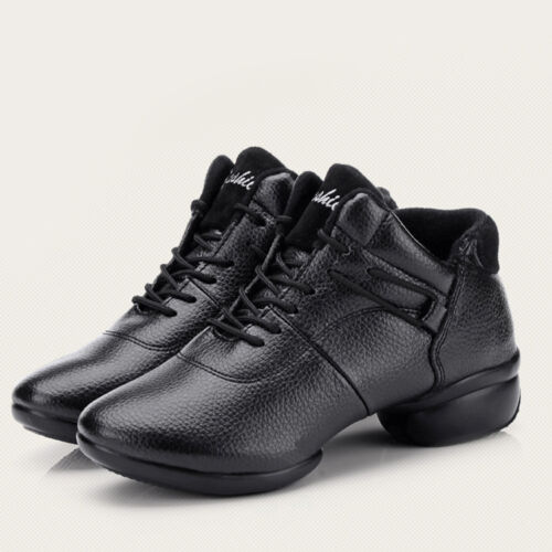 Modern Lady Dance Shoes Split-Sole Lace-up Sneakers Jazz Tap .