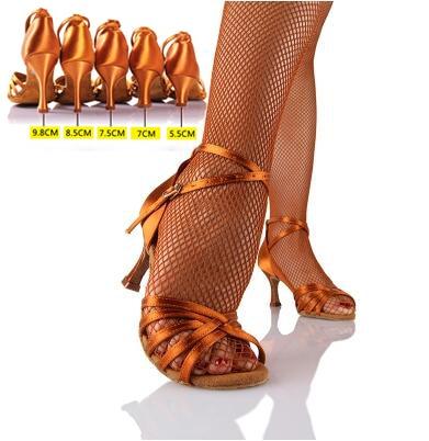21Tyles High Quality Satin Ladies Latin Dance Shoe Women Ballroom .