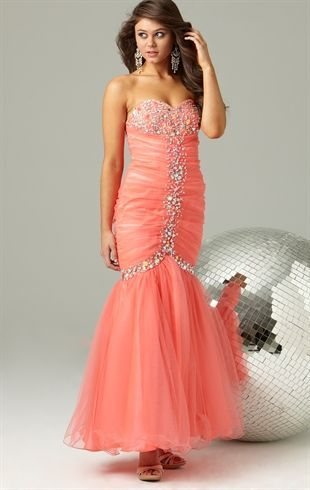 Deb Prom Strapless Long #Prom #Dress with Stone Details and .