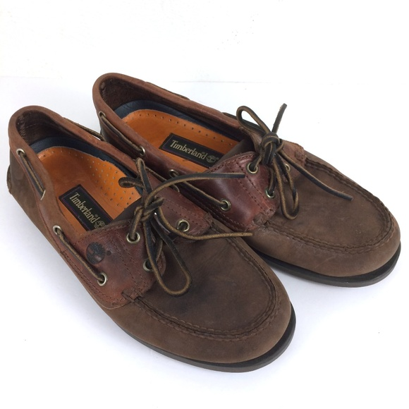 Timberland Shoes | 90s Vtg Brown Suede Boat Deck | Poshma