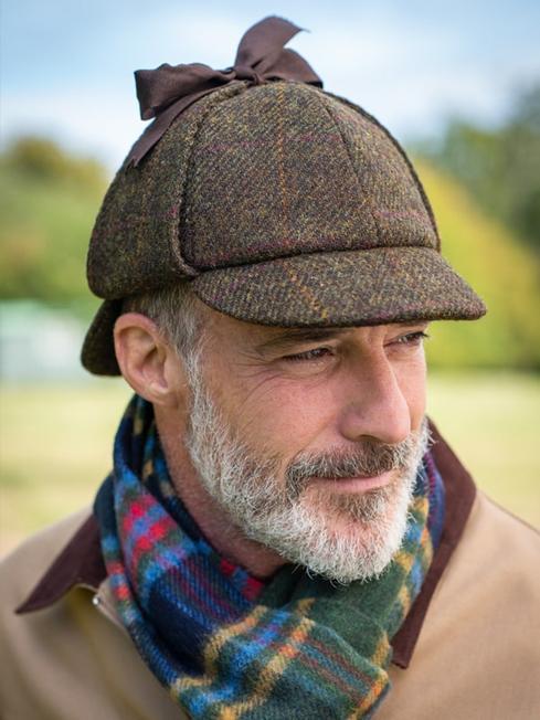 Sherlock Deerstalker Harris Tweed Hat - Peter Christi
