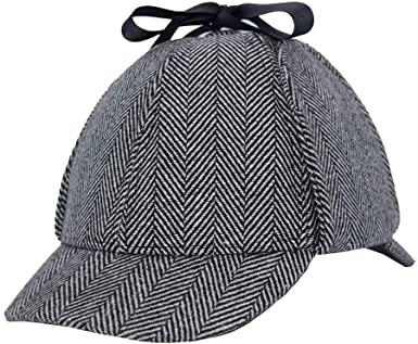 Amazon.com: Aovei Unisex Sherlock Holmes Detective Hat Deerstalker .