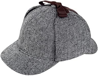 Amazon.com: Sherlock Holmes Caps Detective Hats Deerstalker Cap .