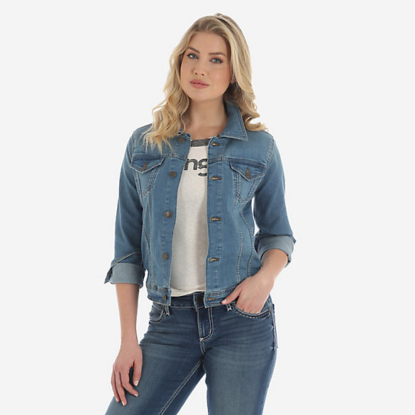 Wrangler® Premium Denim Jacket | Womens Jackets and Outerwear by .