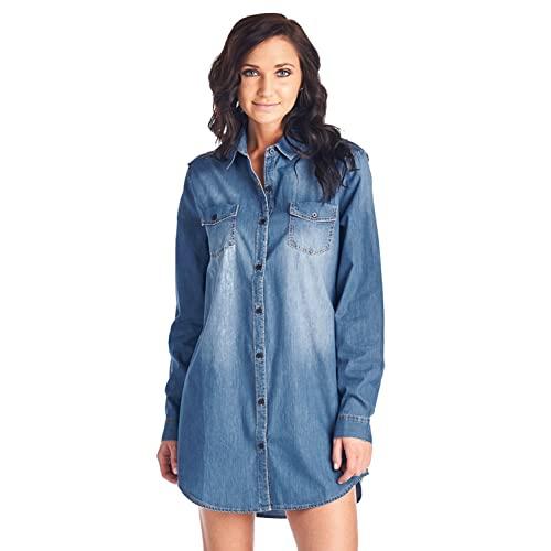 Denim Shirt Dress: Amazon.c