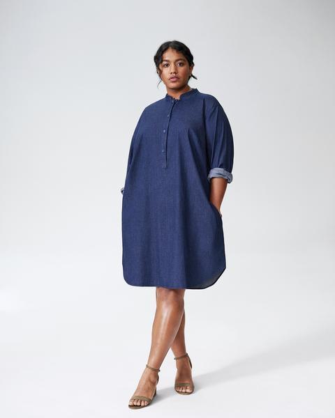 Hannah Denim Shirt Dress - Dark Indigo | Universal Standa