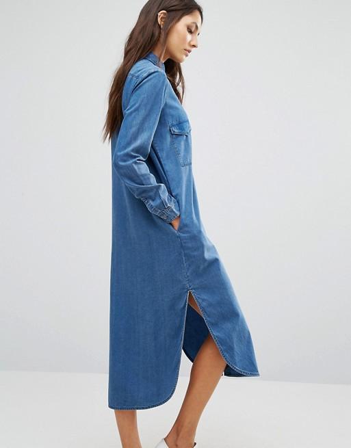 Only Long Denim Shirt Dress | AS