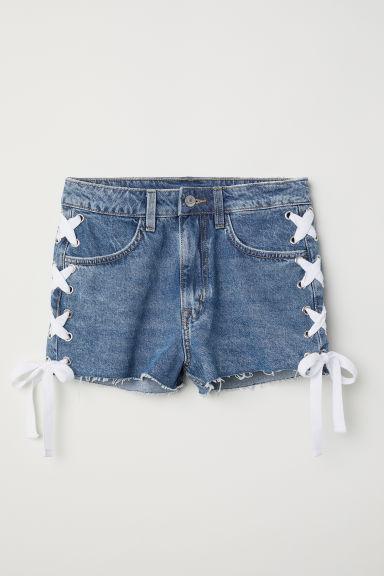 Denim Shorts - Denim blue/lacing - Ladies | H&M