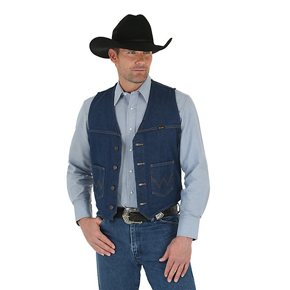 Wrangler® Unlined Denim Vest Prewashed | Mens Jackets and .