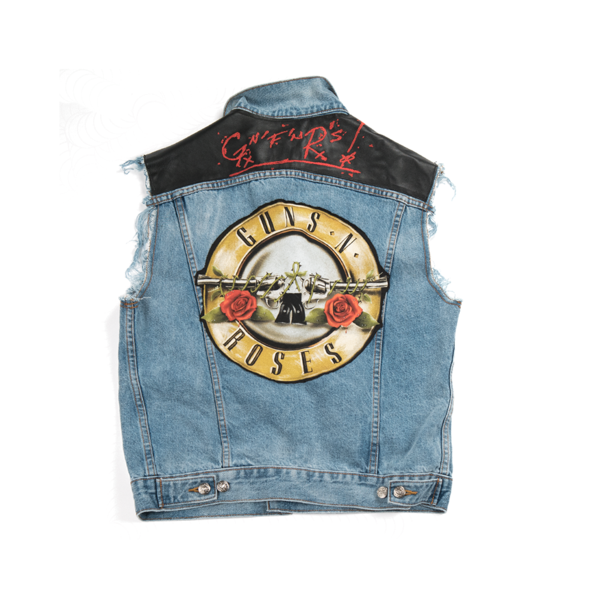 GNF'NR Denim Vest – Guns N' Roses Official Sto