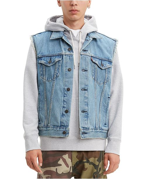 Levi's Men's Denim Vest & Reviews - Coats & Jackets - Men - Macy