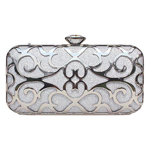 Gesu Metallic Hollow Designer Clutch Evening Bag Handbags .