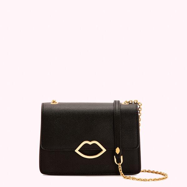 Black Leather Polly Clutch | Designer Clutch Bags | Lulu Guinne