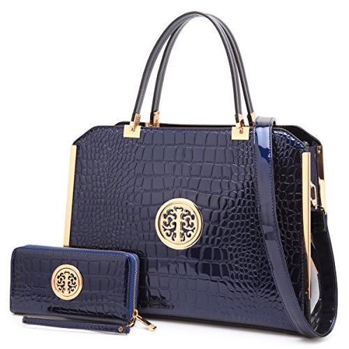 Women Large Designer Handbags Purses Vegan Leather Briefcas