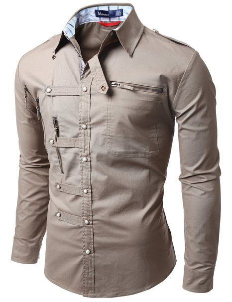 Doublju Mens shirts Zipper point | Mens designer shirts, Urban .
