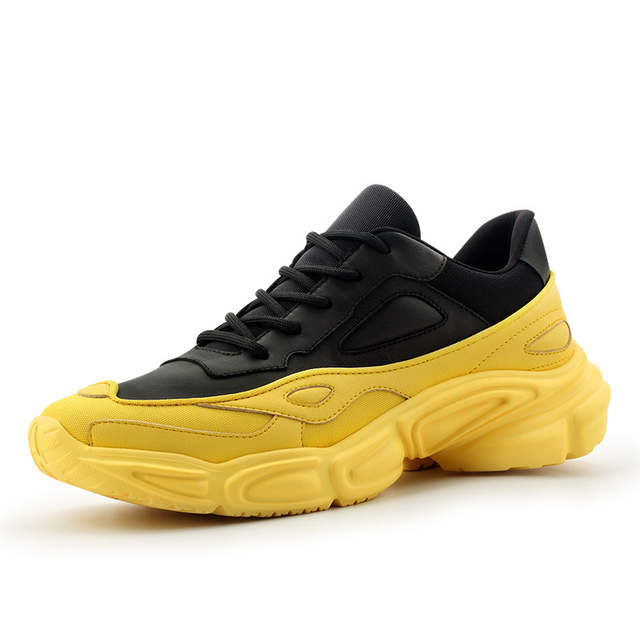 Designer Sneakers Men Genuine Leather Casual Shoes 2019 Spring New .