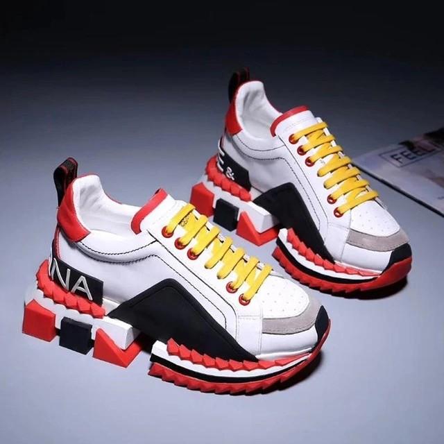 Casual Sneakers Slip on Shoes Men&women DG Luxury Brand Designer .