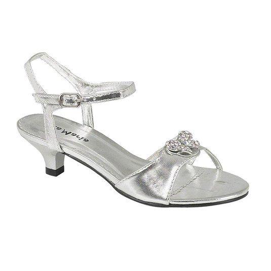 Buy Onlineshoe Girls Low Heel Wedding Bridesmaid Party Silver .