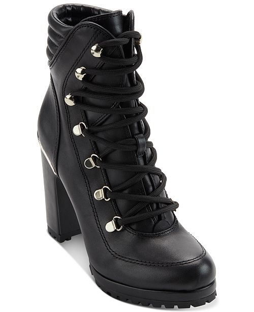 DKNY Women's Lenni Lace-Up Booties , Created for Macy's .