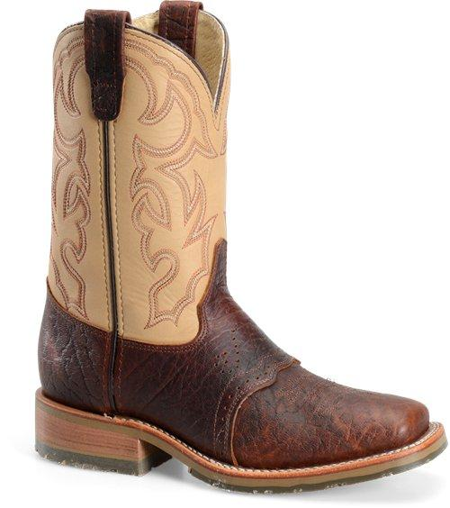 """Double H Boot Graham DH4305 Men's 11"""" Domestic Bison Wide Square ."""