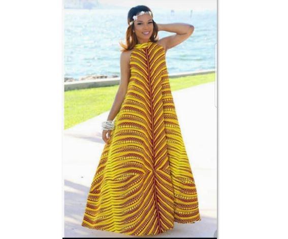 Modern African Dress Style | Long Ankara Dress Womens | Africa Bloo