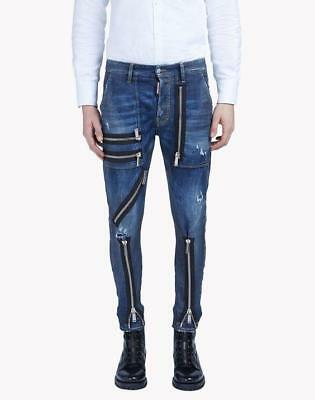 "Dsquared2 Denim Zip Jeans Pants Trousers IT44 31/32"" RRP899GBP ."