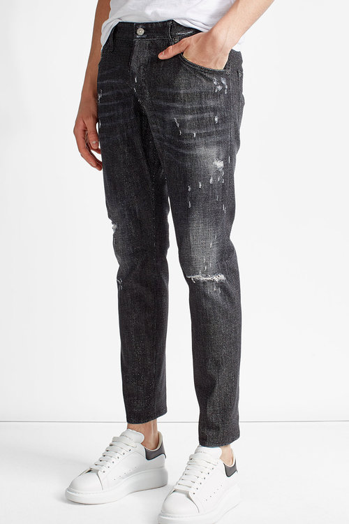 dsquared designer tops for, Dsquared2 Distressed Skinny Jeans .