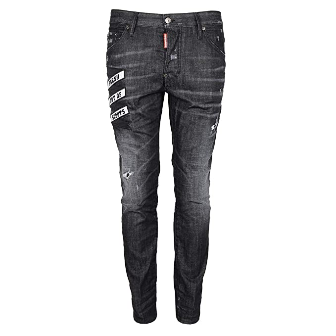 DSquared Jeans Skater Jean - S74LB0336-46(EU) Black: Amazon.co.uk .