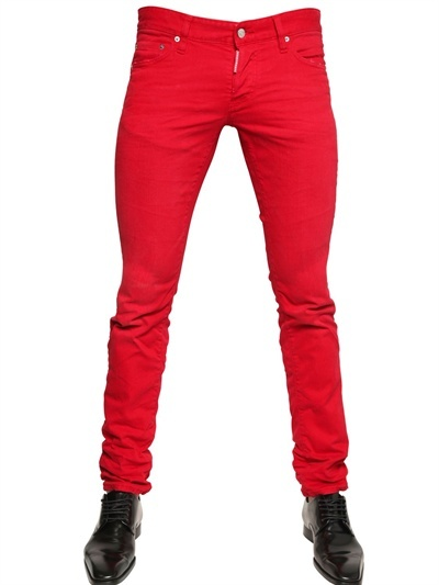 DSquared 185cm Dyed Bull Slim Fit Denim Jeans, $420 | LUISAVIAROMA .