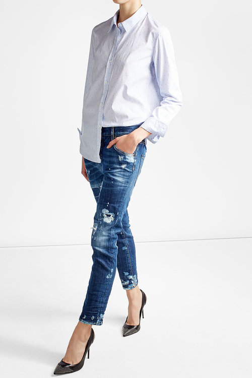 dsquared online clothing shop, Dsquared2 Distressed Jeans blue .