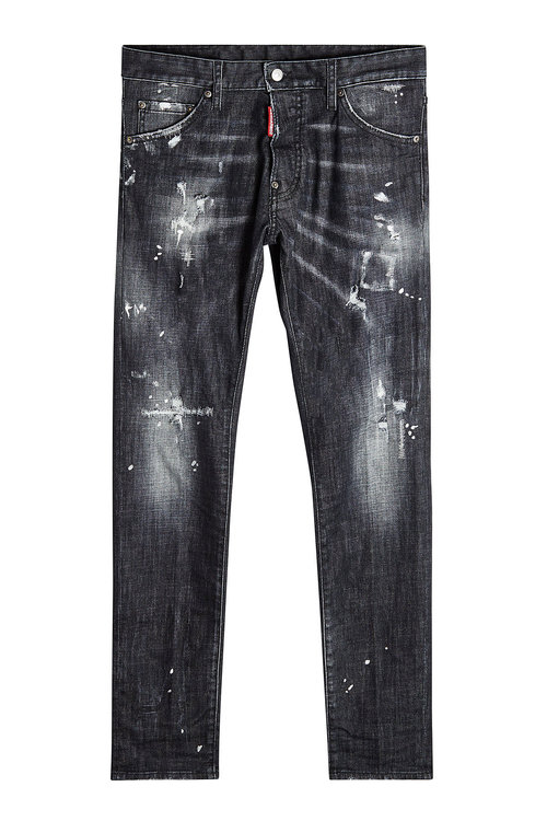 Dsquared2 Distressed Skinny Jeans grey men,he wood dsquared .