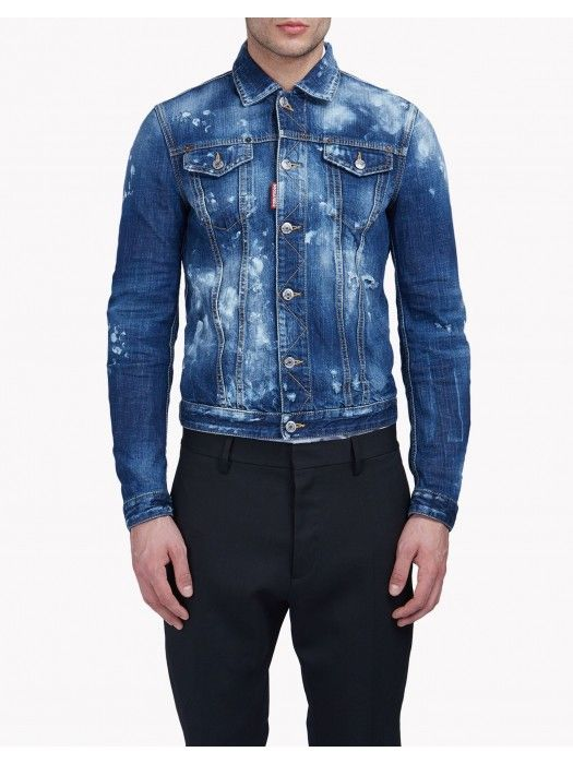 Dsquared2 Baker Denim Jacket Men #dsquared2 #fashion #lifestyle .