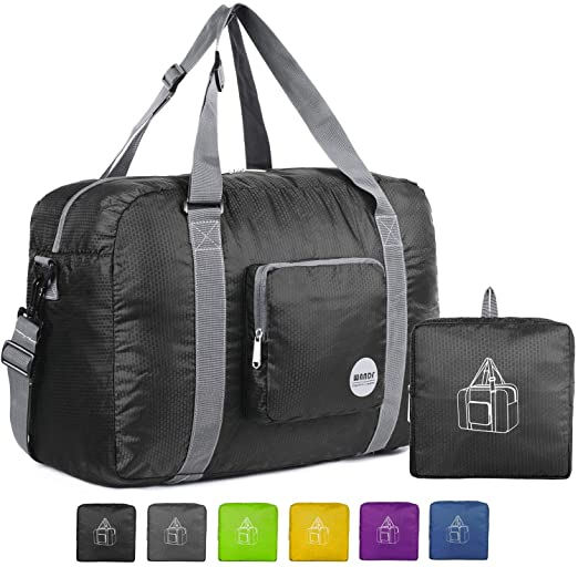 Amazon.com: Wandf Foldable Travel Duffel Bag Luggage Sports Gym .