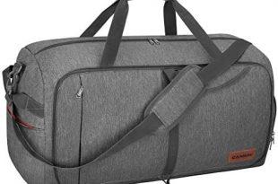 Amazon.com | Canway 65L Travel Duffel Bag, Foldable Weekender Bag .