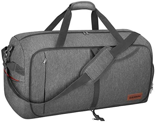 Amazon.com | Canway 65L Travel Duffel Bag, Foldable Weekender Bag .