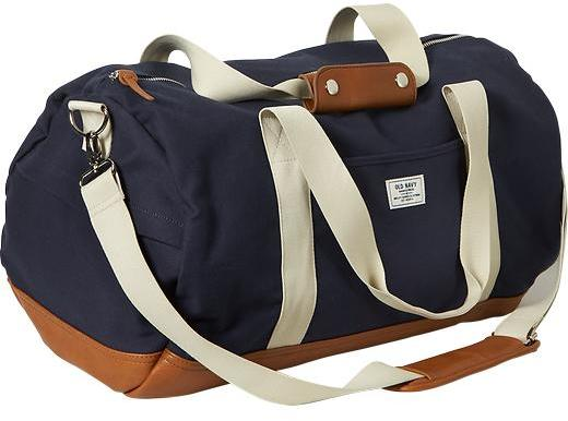 Old Navy Canvas Duffel Bags, $34 | Old Navy | Lookastic.c