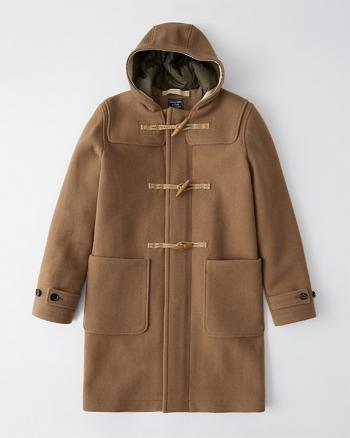Mens Wool-Blend Duffle Coat | Mens Coats & Jackets | Abercrombie.c