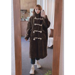 Hooded Sherpa Fleece Duffle Coat - CodiP