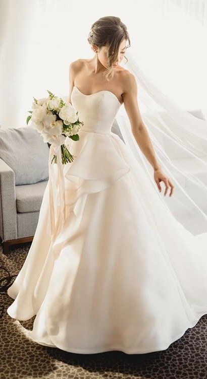 Romantic Ballgown Wedding Dress in Elegant Australia Nuptials .
