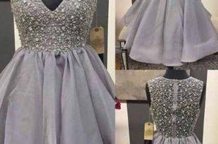 short prom dress,beaded Prom Dress,charming prom dress,mini .
