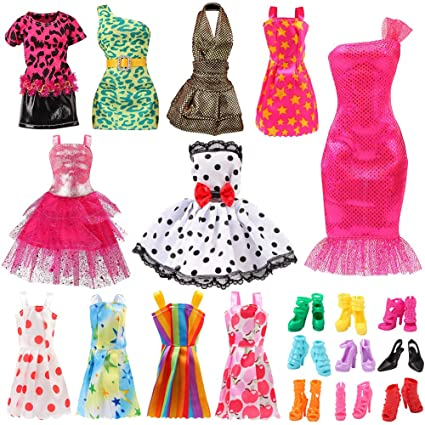 Amazon.com: Bigib Set for 11 Ba-Girl Fashion Dolls Clothes .