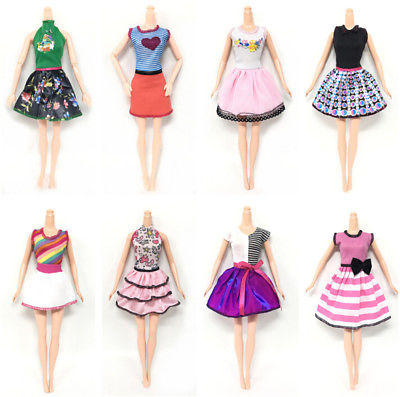 6pcs/Lot Beautiful Handmade Party Clothes Fashion Dress for Doll .