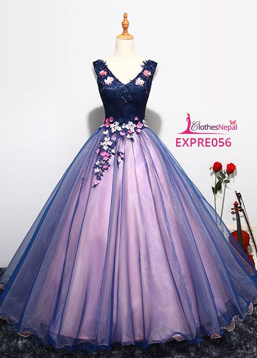 Buy New wedding dress skirt flower fashion dress in Kathmandu .