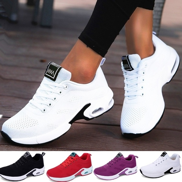 2019 New Fashion Women Lightweight Breathable Sneakers Comfortable .