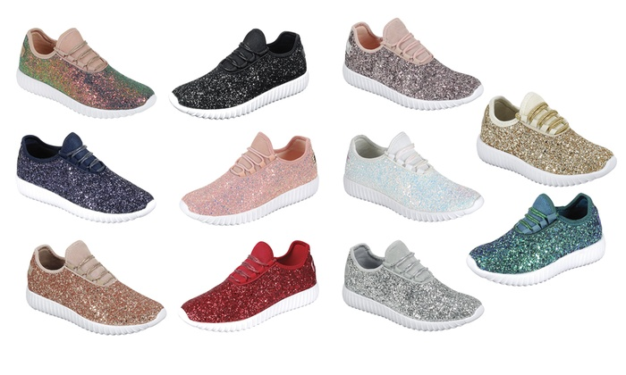 Up To 70% Off on Women Bling Sequin Glitter Fa... | Groupon Goo