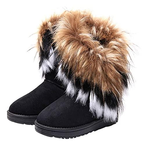Faux Fur Boots: Amazon.c