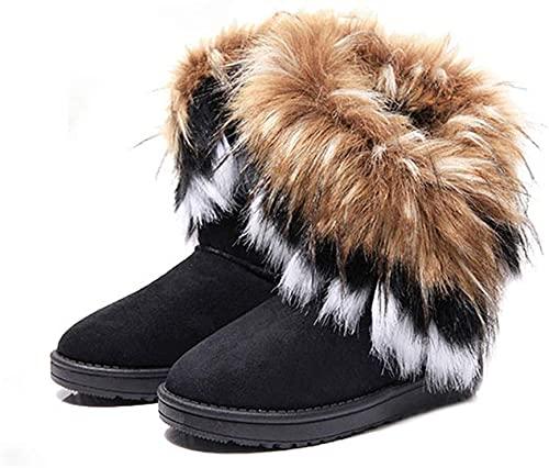 Amazon.com | King Ma Women's Faux Fur Tassel Winter Snow Boot .