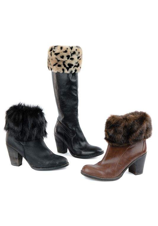 Women's Tame Faux Fur Boot Toppers - Set of
