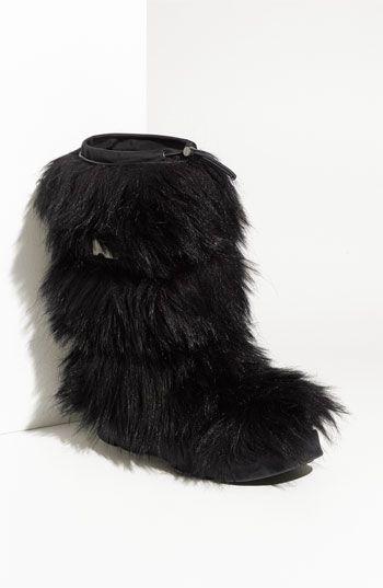 Prada Faux Fur Tall Boot | Boots, Faux fur boots, Tall boo
